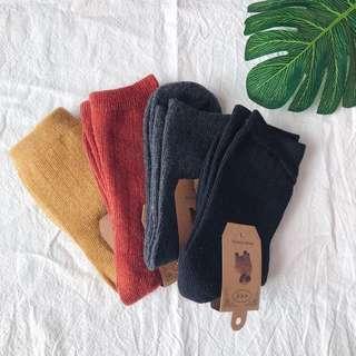 🚚 全新|素面純色針織襪