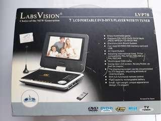 "🚚 Labs Vision 7"" LCD portable dvd player USED"