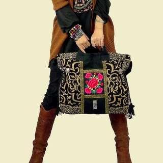 National style retro Chinese style embroidery bag handbag shoulder bag travel bag canvas bag handbags passing by