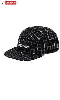 db7f6b14ca5 SUPREME FW18 Boucle Camp Cap black box logo on black hat