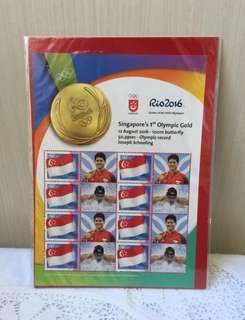 🚚 Joseph Schooling Special edition Stamps Singapore 1st Olympic Gold