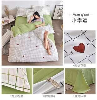 Queen Bed sheet complete set (little happiness)