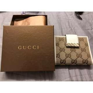 Gucci Icon Bar Original GG Ascot Double Snap Bifold Wallet