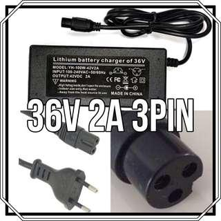 36v 2A 3pin charger