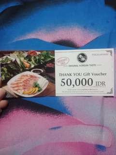 Voucher makan 50.000 di bornga