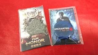 『免費索取』UNCHARTED 4 徽章&榮耀戰魂 鑰匙圈