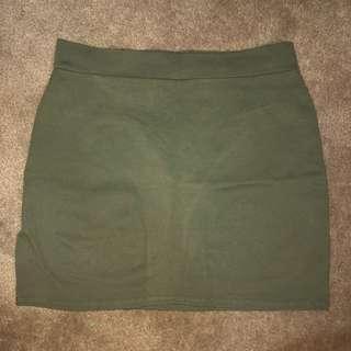 Fashion Nova Khaki Skirt
