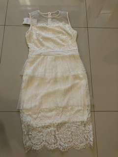 Lace White Dress from Vietnam