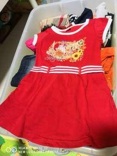 2 to 4 years old little girl Melaka dress