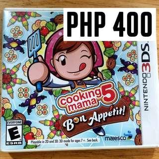 COOKING MAMA 5-BON APPÉTIT!:  NINTENDO 3DS GAME //SALE!!!