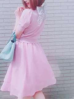 🚚 (二手)日牌mercuryduo雪紡紗傘裙鬆緊腰
