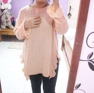 Zara Ruffles Knit Top