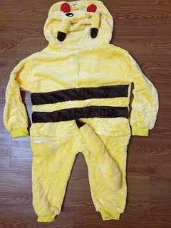 Pikachu Cosplay Hooded Pyjamas for kids