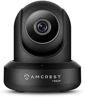 🚚 Amcrest ProHD 1080P WiFi Camera 2MP (1920TVL) Indoor Pan/Tilt Security Wireless IP Camera IP2M-841B (Black)