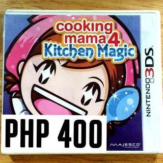 COOKING MAMA 4: KITCHEN MAGIC - NINTENDO 3DS GAME // SALE!!