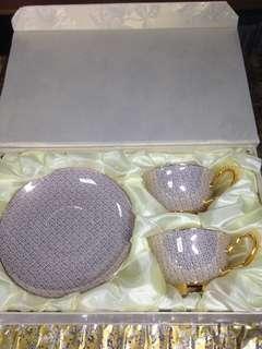 🚚 royal queen 骨瓷咖啡杯盤組