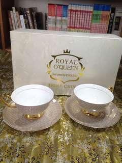 🚚 china bone 骨瓷咖啡杯盤組 英國皇家骨瓷咖啡杯
