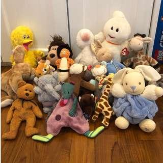 6248872e5f7 Lot of 16 NEW WITH TAGS NEAR NEW stuffed toys - TY Beanie Babies