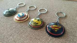 Superheroes shield Keychain(360° rotatable)
