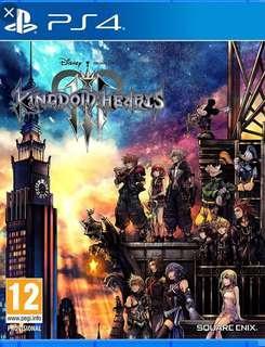 王國之心 3 Kingdom Heart PS4 (有code)