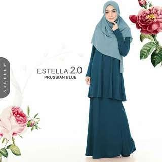 Baju Kurung ESTELLA 2.0, prussian Blue