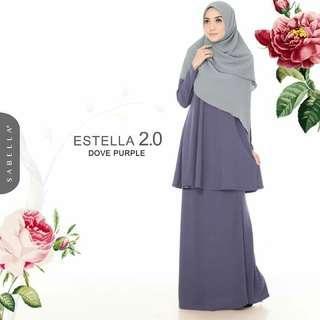 Baju Kurung ESTELLA 2.0, Dove Purple