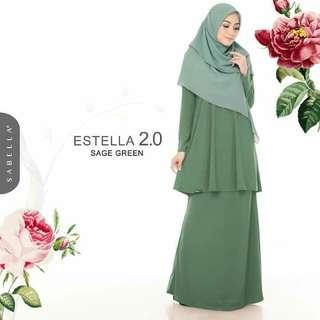 Baju Kurung ESTELLA 2.0, Sage Green