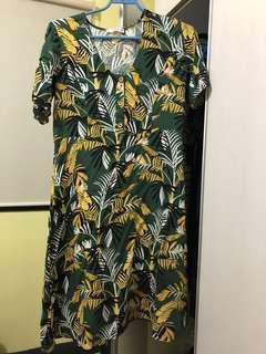 MNG floral midi dress (w/ when worn pic)