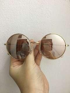 CT56 kacamata pink semi mirror