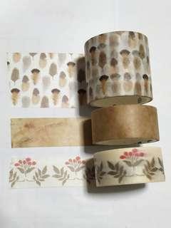 🚚 Vintage design washi tapes