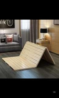 三摺式 圓角 實木 榻榻米床架