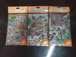 可愛日本小貓咪氣泡軟綿手帳DIY日記相冊立體貼紙