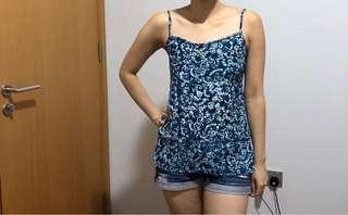 🚚 Batik print strap top