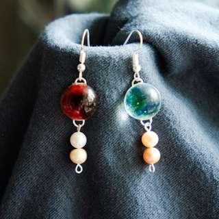 【生命之源】星球 耳環 Earings Emma Tam Accessories Galaxy 白色情人節 婚禮 新娘 耳環