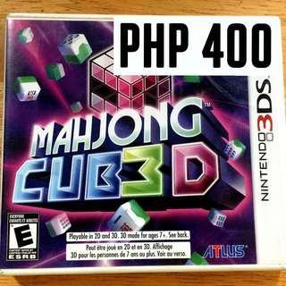 MAHJONG CUB3D - NINTENDO 3DS GAME // SALE!!!!