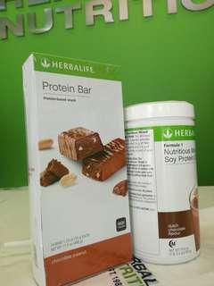 Herbalife Formula 1 + protein bar