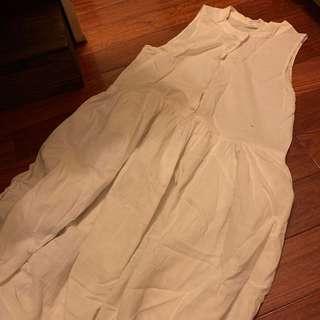 🚚 棉麻白色洋裝