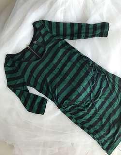 9months Pregnancy Stripes Dress