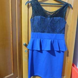 Lace Dress Blue&Black