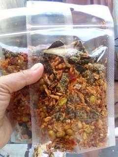 Ikan teri sambal vegetarian