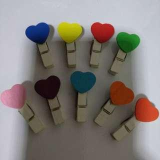Love wooden paper clips - Giveaway