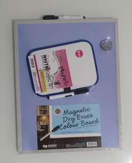 Whiteboard Set Magnetic + Dry Erase Colour Board Magnetic