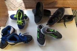 5 pairs of Boys size 3-4 Shoes
