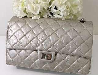 Authentic Chanel reissue 2.55 226 medium flap bag - champagne e703e9e01fcd0