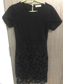 🚚 Sexy Black Lace Bandage Dress
