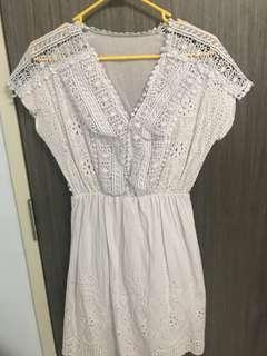 🚚 Sexy white crotchet dress