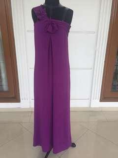 Purple long dress / party dress / prom gown / cocktail dress