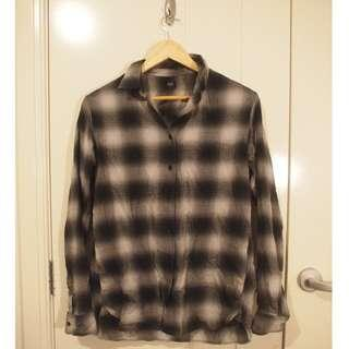 Black and White Chequered Flannel
