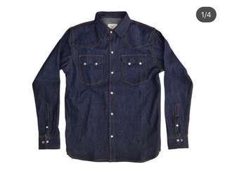 Denim western shirt (清貨價)