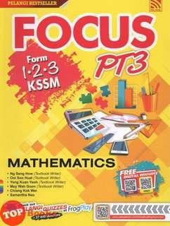Focus PT3 KSSM Maths Form 1,2,3